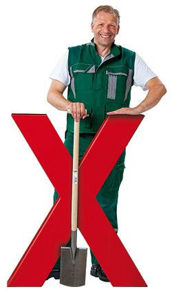 Gartenbau-Handwerker mit bauXpert-X